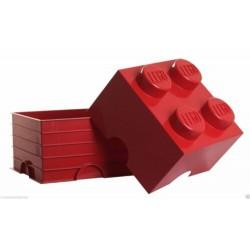 LEGO STORAGE SCATOLA CONTENITORE GIGANTE RED ROSSO 2X2 PORTA MATTONCINI