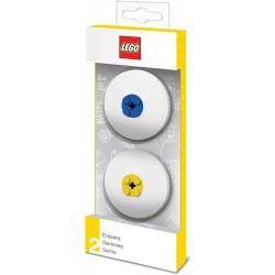 LEGO CLASSIC 5005108 GOMME PER CANCELLARE BLU E GIALLA 2PZ GOMMA