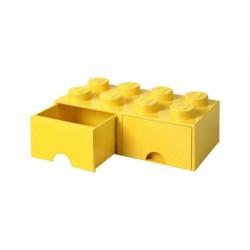LEGO STORAGE 2X4 YELLOW GIALLO CON CASSETTI - CASSETTO