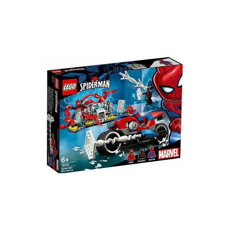 LEGO 76113 SUPER HEROES SALVATAGGIO SULLA MOTO DI SPIDER-MAN 2019