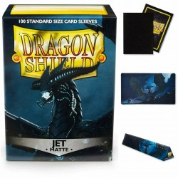 DECK DRAGON SHIELD MATTE SLEEVES JET  (100 BUSTINE) 63X88MM - 11024
