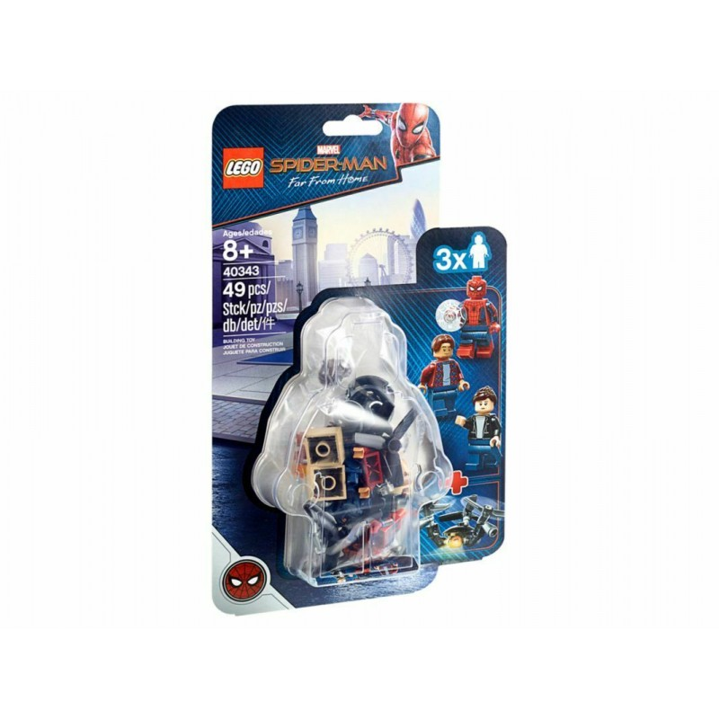 LEGO 40343 SPIDER-MAN E LA RAPINA AL MUSEO ACCESSORY SET MINIFIGURES ESCLUSIVE
