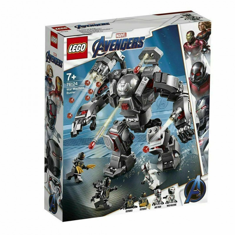 LEGO 76124 SUPER HEROES AVENGERS WAR MACHINE BUSTER MARVEL 2019