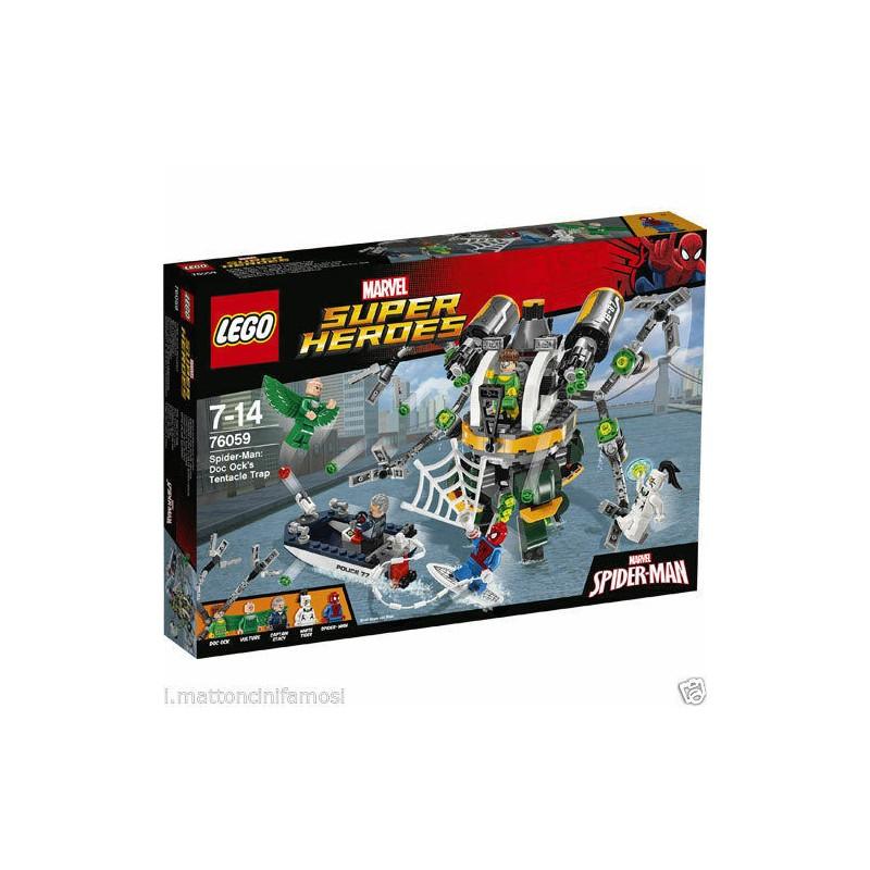 LEGO 76059 MARVEL SUPER HEROES SPIDERMAN DOC OCK'S TENTACLE TRAP DISPONIBILE