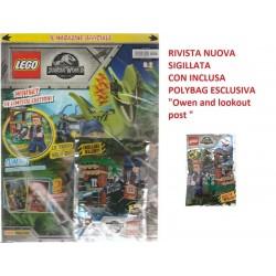 LEGO JURASSIC WORLD RIVISTA MAGAZINE N 2 IN ITALIANO + POLYBAG ESCLUSIVA NUOVO