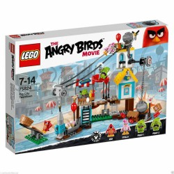 LEGO 75824 THE ANGRY BIRDS MOVIE LA DEMOLIZIONE DI PIG CITY SUBITO DISPONIBILE