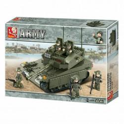 SLUBAN ARMY CARRO ARMATO MERKAVA MATTONCINI M38-B0305 344 pezzi