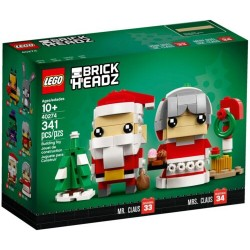 LEGO 40274 BRICKHEADZ MR. & MRS. CLAUS NATALE 2018 CHRISTMAS