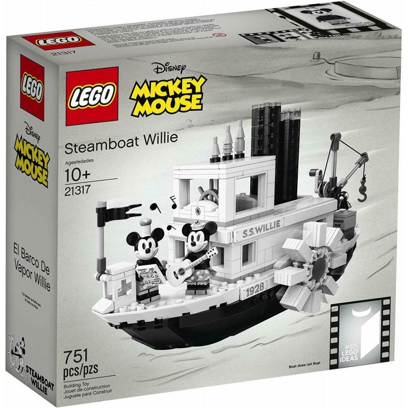 SCATOLA ROVINATA LEGO 21317 IDEAS  025 DISNEY™ STEAMBOAT WILLIE 2019