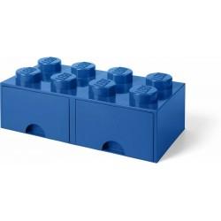 LEGO STORAGE SCATOLA CONTENITORE GIGANTE CON CASSETTO CASSETTI - BLU 2X4