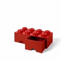 LEGO STORAGE GIGANTE 2X4 ROSSO RED CON CASSETTO - CASSETTI