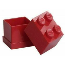 LEGO CONTENITORE ROSSO RED 2X2 LUNCH MINI BOX BATTESIMO COMUNIONE CONFETTI