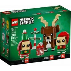 LEGO 40353 BRICKHEADZ RENNA, ELFO ED ELFA SET ESCLUSIVO
