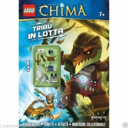 LEGO ACTIVITY LEGEND OF CHIMA  RIVISTA FUMETTO TRIBU' IN LOTTA