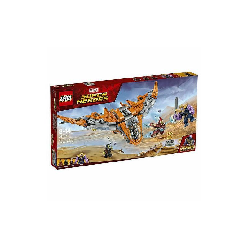 LEGO MARVEL SUPER HEROES 76107 Thanos: Ultimate Battle scatola rovinata MAR2018