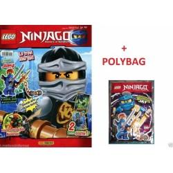 LEGO NINJAGO RIVISTA MAGAZINE NR. 10 IN ITALIANO + POLYBAG JAY NUOVO SIGILLATO