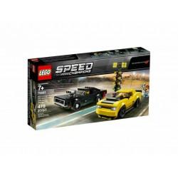 LEGO SPEED CHAMPIONS 75893 2018 DODGE CHALLENGER SRT DEMON 1970 DODGE CHARGER RT