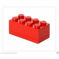LEGO CONTENITORE RED ROSSO 2X4 LUNCH MINI BOX BATTESIMO COMUNIONE CONFETTI