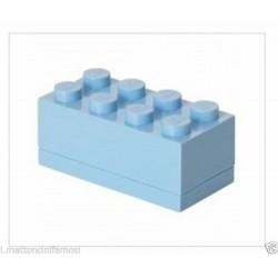 LEGO CONTENITORE AZZURRO 2X4 LUNCH MINI BOX BATTESIMO COMUNIONE CONFETTI