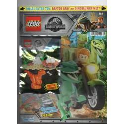 LEGO JURASSIC WORLD RIVISTA MAGAZINE N. 1 IN TEDESCO + POLYBAG ESCLUSIVA NUOVA