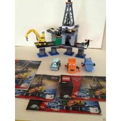 LEGO 9486 Oil Rig Escape PIATTAFORMA USATO COMPLETO CARS 2 DISNEY PIXAR