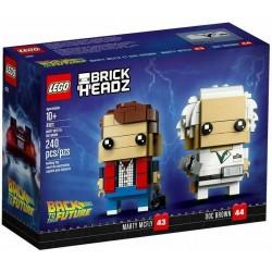 LEGO BRICKHEADZ 41611 RITORNO AL FUTURO MARTY MCFLY E DOC BROWN MAG 2018