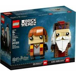 LEGO 41621 BRICKHEADZ HARRY POTTER RON WEASLEY E ALBUS DUMBLEDORE leg. rovinato